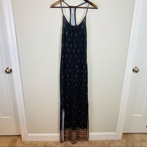 Loveappella black stretch maxi dress